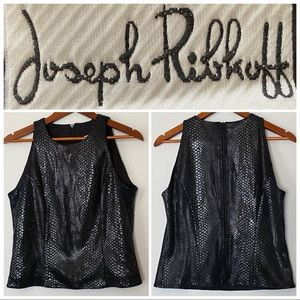 Joseph Ribkoff Fitted Sleeveless Snake Top